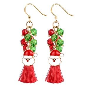 Super cute tassel holiday earrings